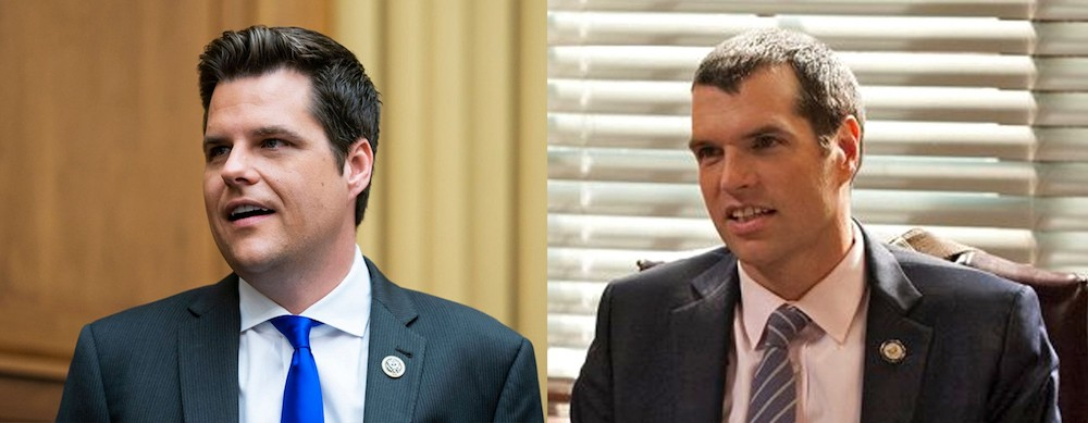 Some compare Gaetz to fictional congressman and tool Jonah Ryan on HBO's 'Veep' - PHOTOS VIA MATT GAETZ/TWITTER AND HBO