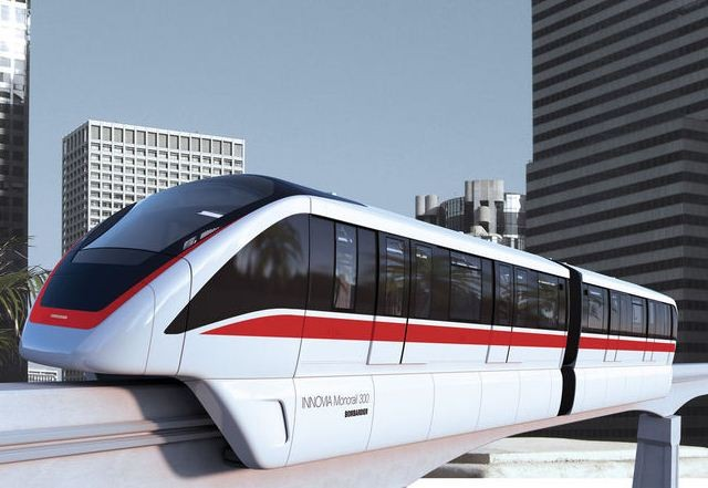 The INNOVIA 300 monorail - IMAGE VIA BOMBARDIER
