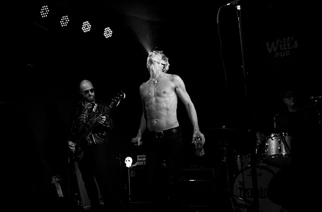 Greg Reinel and the Tremolords as the Stooges at Will's Pub - JIM LEATHERMAN
