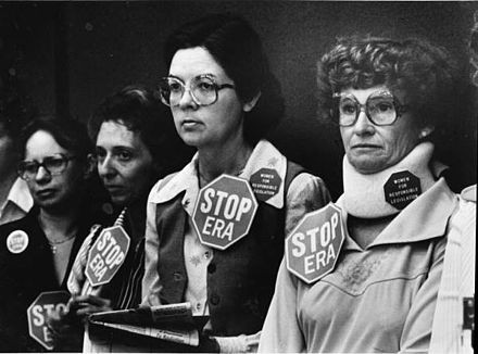 Anti-ERA women watching a committee meeting of the Florida Senate in 1979, where consideration of the ERA was postponed, thus effectively killing ratification. - PHOTO VIA FLORIDA MEMORY ARCHIVES