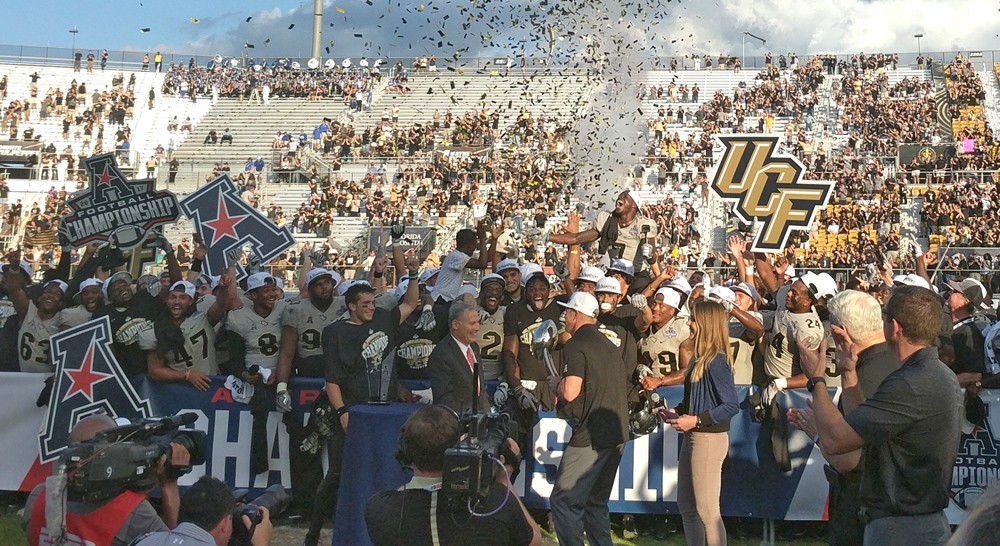 In 2017, UCF beat Memphis to won the American Athletic Conference Championship, and a 12-0 season - PHOTO BY ELISFKC/WIKIMEDIA COMMONS