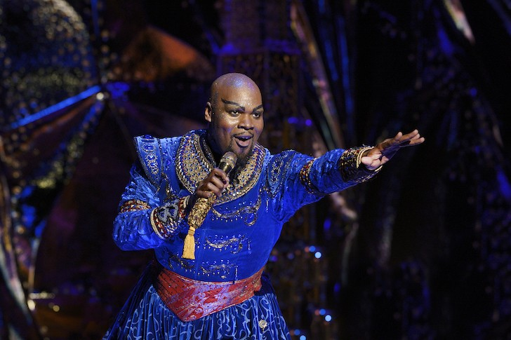 Michael James Scott as Genie in Aladdin - PHOTO BY DEEN VAN MEER