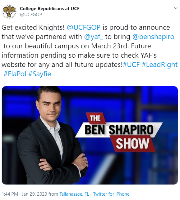 IMAGE VIA COLLEGE REPUBLICANS AT UCF/TWITTER