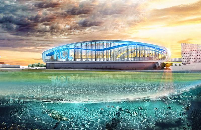 The new PortMiami Norwegian Cruise Line Terminal - IMAGE VIA BERMELLO AJAMIL & PARTNERS