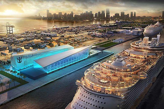 The new PortMiami Royal Caribbean Terminal - IMAGE VIA ROYAL CARIBBEAN