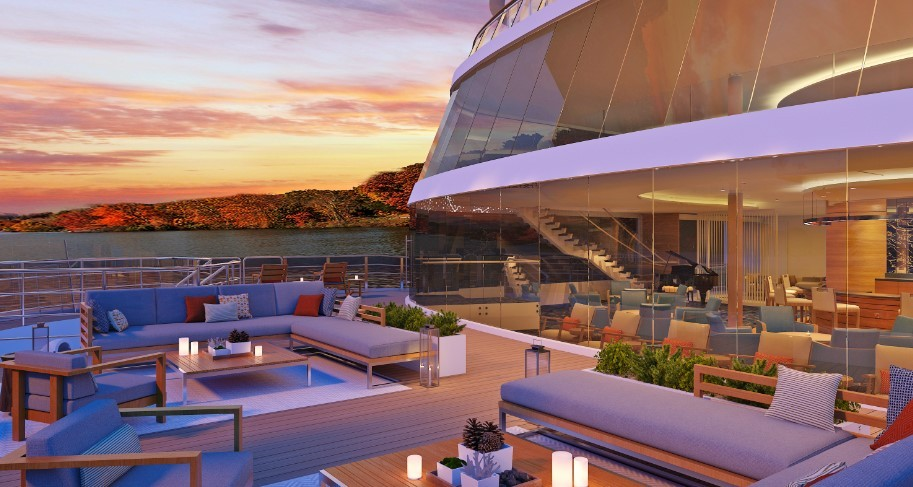 Outdoor seating on the bow of the Viking Mississippi - IMAGE VIA VIKING CRUISES