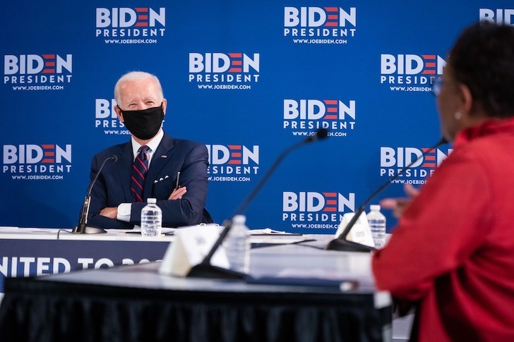 Joe Biden, masked - PHOTO COURTESY JOE BIDEN/FACEBOOK