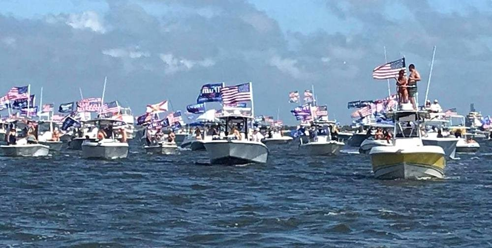 Sanford Christmas Boat Parade 2020 Florida Trump supporters want to set the world record for biggest