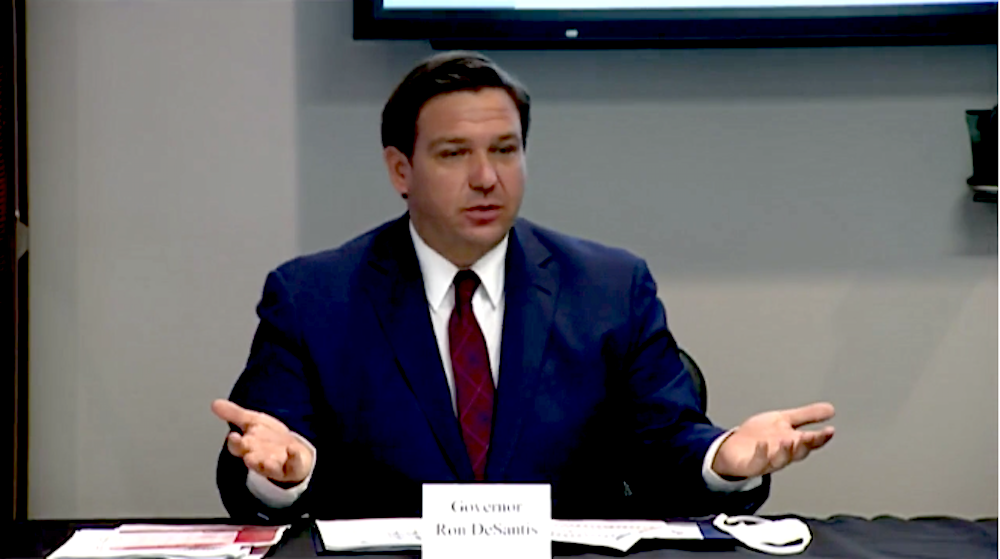 Gov. Ron DeSantis - SCREEN CAPTURE COURTESY WFSU/YOUTUBE