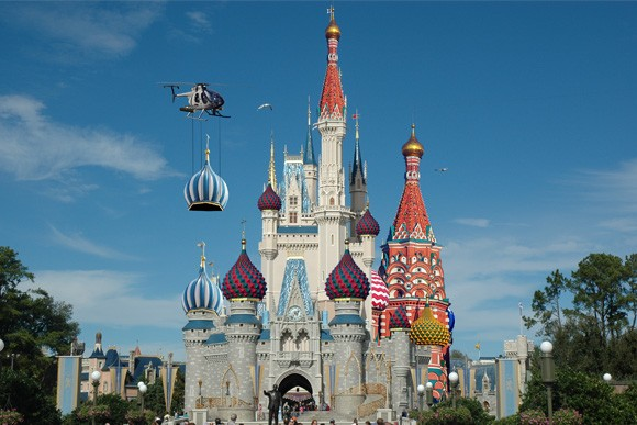 cinderella castle gets russian makeover to welcome trump to hall of