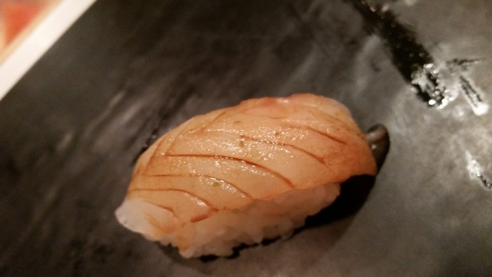 9. Nigiri of houbou (New Zealand blue fin robin)