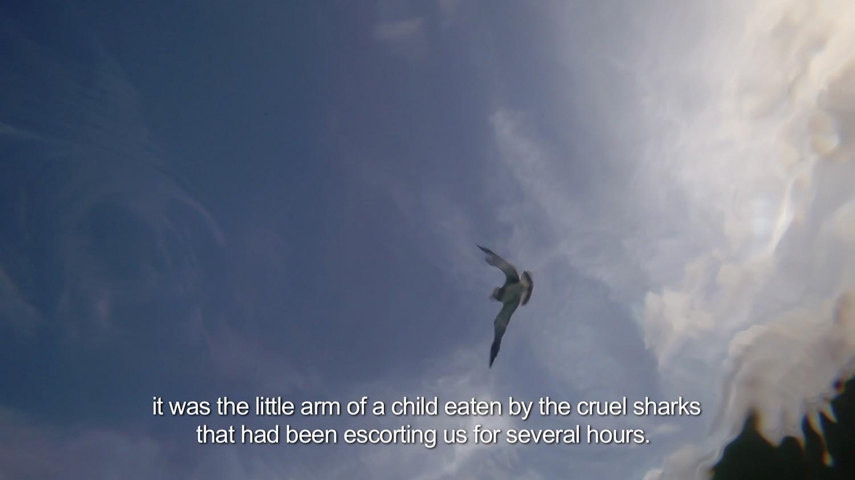 """Still from video """"The Sea Will Talk"""" by Coco Fusco"""