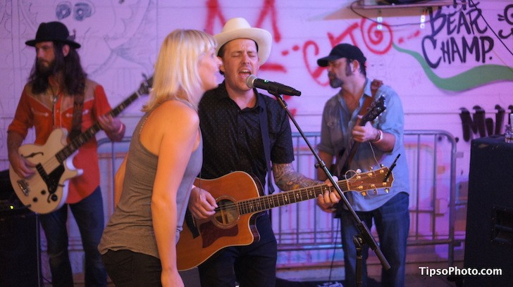 Heather Lee & Jordan Wynn with Hannah Harber & the Lionhearts at Dirty Laundry pavilion - MICHAEL LOTHROP