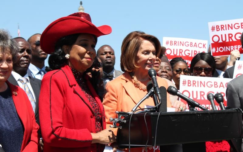 Rep. Frederica Wilson with Nancy Pelosi - PHOTO VIA WILSON.HOUSE.GOV