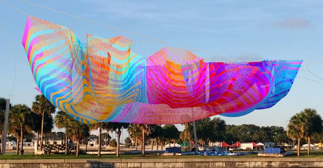 Janet Echelman's proposed artwork of Spa Beach - IMAGE VIA CITY OF ST. PETERSBURG, FLORIDA