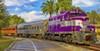 Royal Palm's vintage diesel-driven passenger train