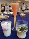 L-R: Pancake milkshake (Test Track), Madras mimosa (Shimmering Sips Mimosa Bar), Guinness Baileys shake (Ireland)