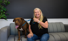 Jacki Webb and her friend Duke, who's currently available for adoption at OCAS