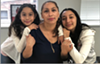 Alejandra Juárez and her two daughters.