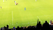 Orlando City fans trashed their own field yesterday