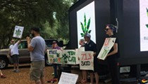 Protesters gather in downtown Orlando demanding Rick Scott take action on medical marijuana