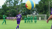 Video shows Orlando City players taking on Green Army Men from Disney's Toy Story Land
