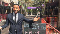 Wall Street Cantina in downtown Orlando is giving away free lunch to anyone who's won an EGOT, specifically John Legend