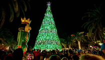The City of Orlando will flip the switch on this giant Christmas tree Friday