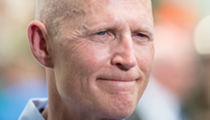 Former Florida Gov. Rick Scott was sworn into the U.S. Senate last night
