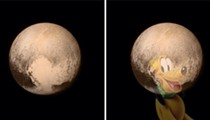 Some stoner thought the new images of Pluto contain the actual silhouette of Disney's Pluto