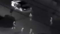 Helicopter captures footage of an Orlando 'fight club' in a Winn-Dixie parking lot