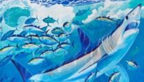 Watch marine artist Guy Harvey paint a new shark mural at SeaWorld