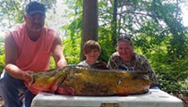Teen breaks Florida record with 68 pound flathead catfish