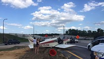 A damn plane just landed on I-4 in Orlando during rush hour