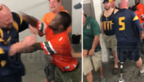 Two grown men fought at Camping World Stadium over whose turn it was to pee