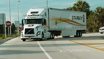 A self-driving 18-wheeler was tested on the Florida Turnpike earlier this month