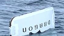 Fisherman catches door of SpaceX capsule off Daytona Beach