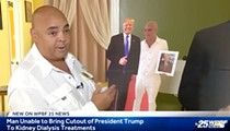 Florida man upset he can't bring life-sized Donald Trump cutout to dialysis