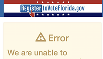 Florida extends voter registration deadline to 7 p.m. tonight after website crashes, just as it has in the past two years