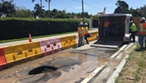 A sinkhole has opened up directly in front of Trump's Mar-a-Lago resort