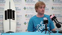 Florida surfer nearly loses leg to stingray