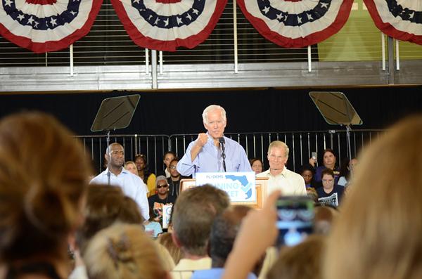 Biden rallies Florida Democrats in Tampa for Nelson, Gillum
