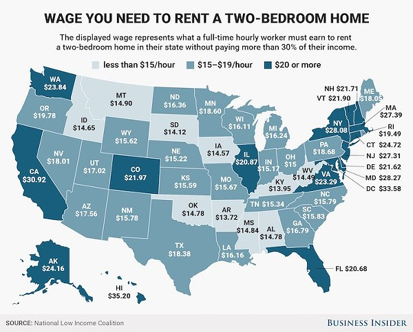 You need to make at least 20 an hour to afford a two - Average rent for 2 bedroom apartment ...