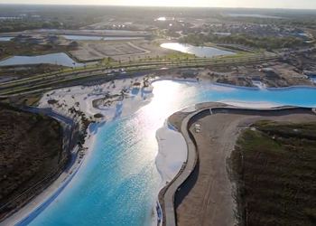 The country's first man-made clear water lagoon opened in Florida last weekend