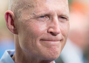 Former Florida Gov. Rick Scott was sworn into the U.S. Senate last night