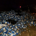 60,000 pounds of Busch was spilled over a Florida highway this morning