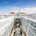 The world's largest cruise ship begins its maiden voyage before it heads to Florida