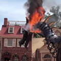 A dragon float caught on fire today at Walt Disney World