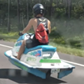 Here's a Florida man driving a  'street legal' jet ski on the highway