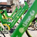 Orlando is now painting parking boxes for its new 'dockless' bikeshare system